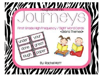 Journeys Gift Card Pin - journeys 1st grade sight word cards zebra themed