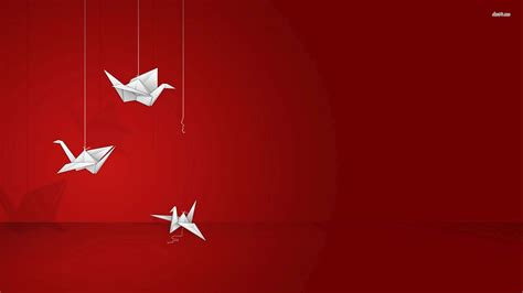 Origami Wallpaper - origami swans wallpaper