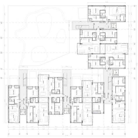 social housing plans untercio arquitectura vallecas 47 social housing project madrid