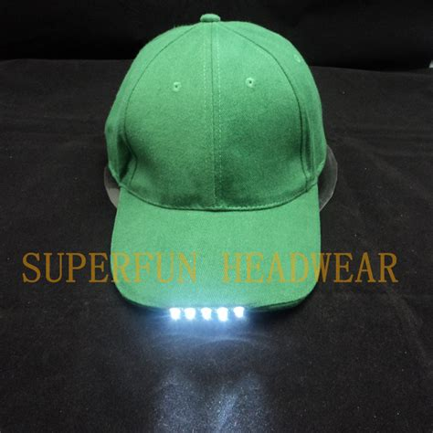 hats with lights in visor china caps with led lights in visor china caps with