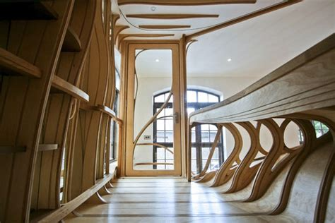 Room Within A Room Warped Wooden Rooms Wooden Rooms