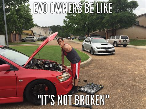 evo subaru meme the on going relationship of sti and evo friends