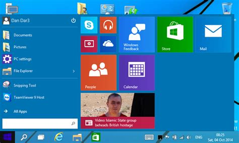 start menu doesnt open in windows 10 tech preview dan dar3 windows 10 technical preview on asus r2h