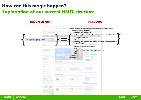 html layout explanation project detail view modern web design css pitch for