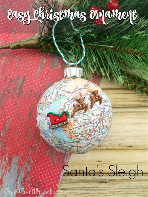 easy decoupage ideas easy decoupage santa s sleigh map ornament ornaments