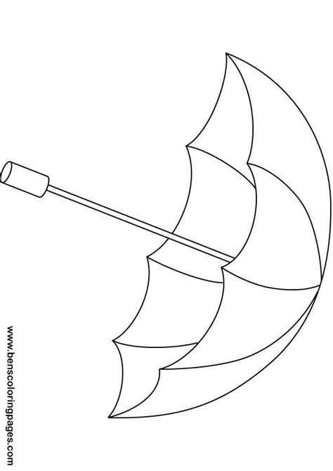 rainbow umbrella coloring page 171 funnycrafts free coloring pages of umbrella