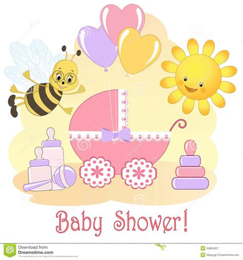 baby shower card royalty free stock photography image