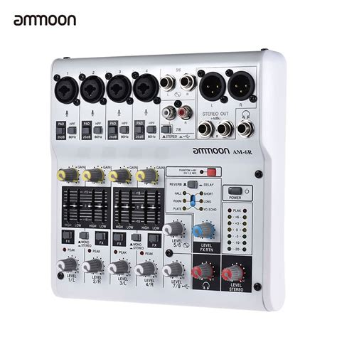 Mixer Audio Built Up ammoon am 6r 8 channel sound card digital audio mixer