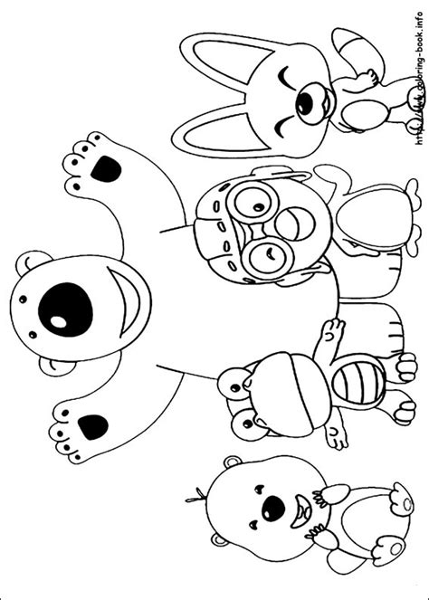 Pororo Coloring Picture 색칠공부 뽀로로 Pinterest Craft Pororo Coloring Pages