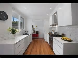 gallery galley style kitchen