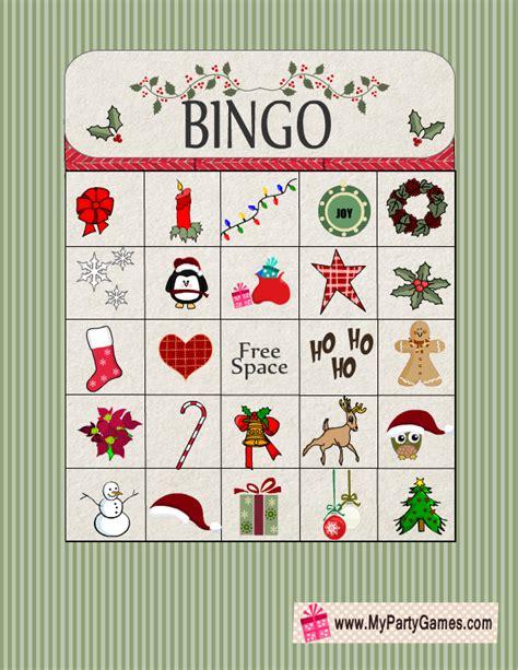 holiday board games printable free printable christmas bingo