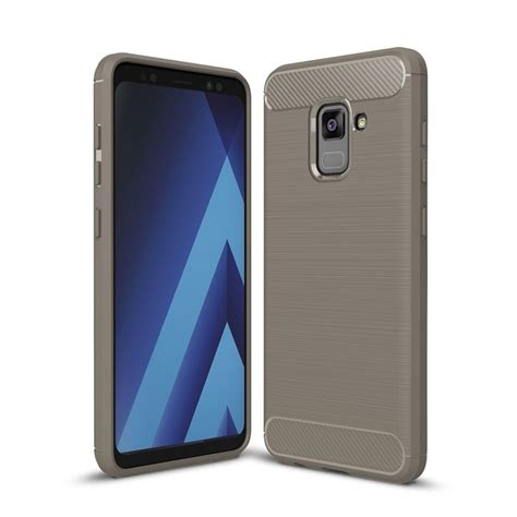 Samsung Galaxy A7 2017 Carbon Fiber for samsung galaxy a7 2018 brushed carbon fiber texture tpu shockproof anti slip soft