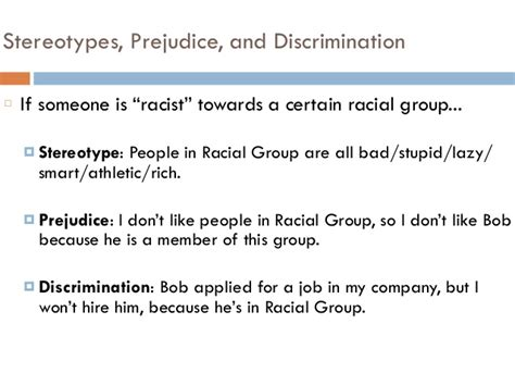 stereotypes prejudice discrimination psych 201