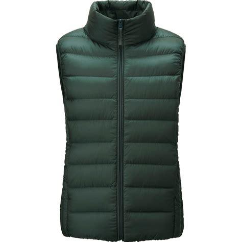ultra light down vest uniqlo ultra light down vest in green lyst