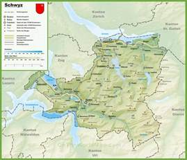 map cities and towns canton of schwyz map with cities and towns