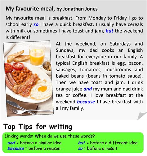 My Favourite Dish Essay by My Favourite Meal Learnenglishteens Writing Ideas Meals And Reading