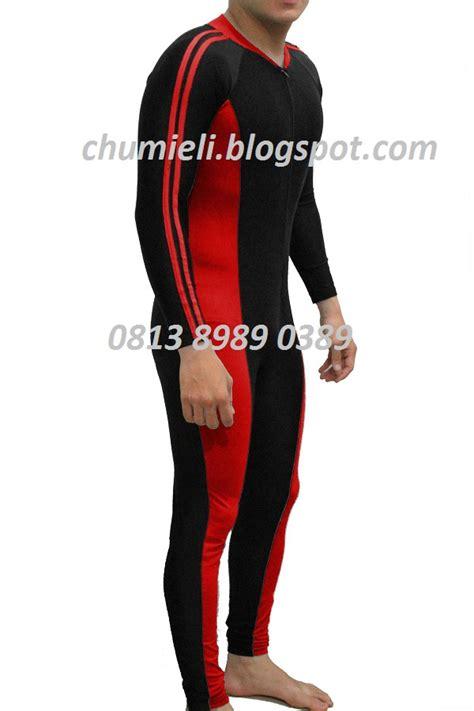Baju Renang Anak Diving Panjang Merah Hitam Premium Edition jual baju renang diving pria dan wanita dewasa panjang