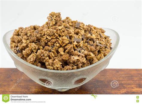 Granolab Muesli Chocolate Besar healthy granola muesli cereals with chocolate in bowl stock photo image 74814550
