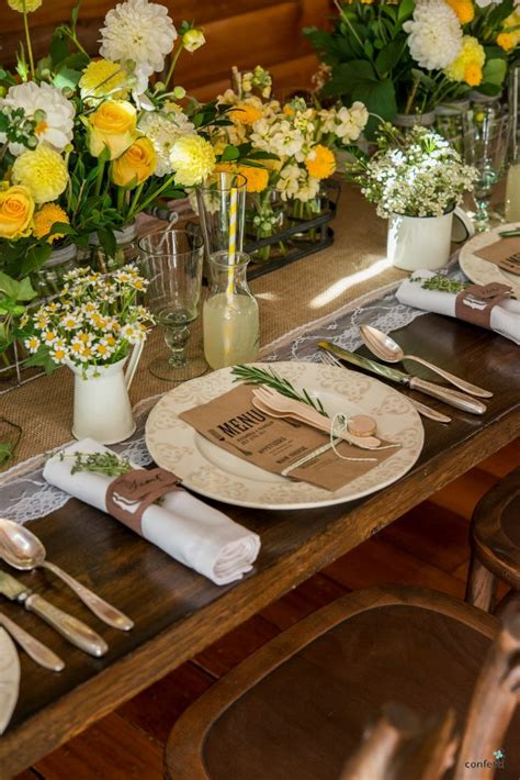 table cutlery set up rustic wedding theme rustic table decor set up ideas