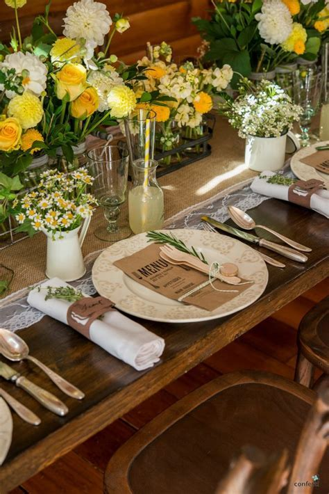 Rustic wedding theme   Rustic table decor set up ideas