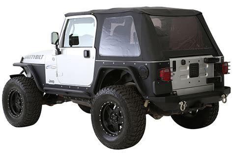 Top Jeep Wrangler Bowless Combo Top Smittybilt Jeep Wrangler Tj Custom Trux