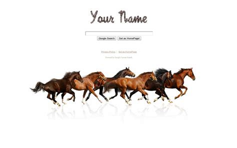 google themes horse shiny search google homepage themes adanih com