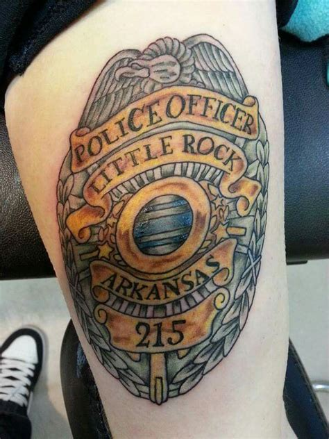 police tattoo ideas my s badge my tattoos