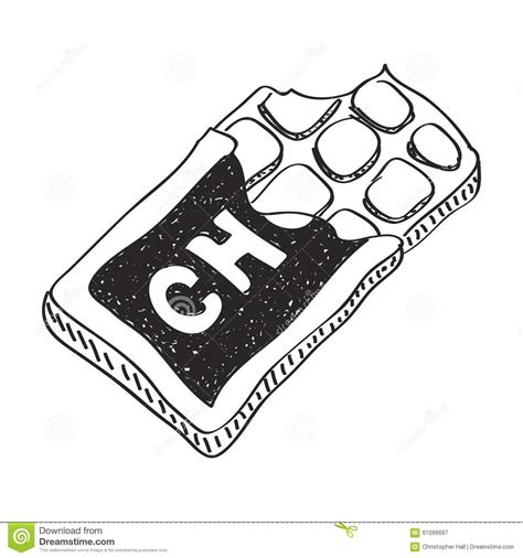 Simple Doodle Of A Chocolate Bar Stock Illustration