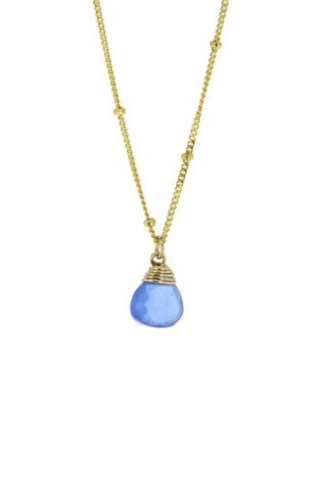 lotus jewelry studio blue chalcedony necklace from dallas