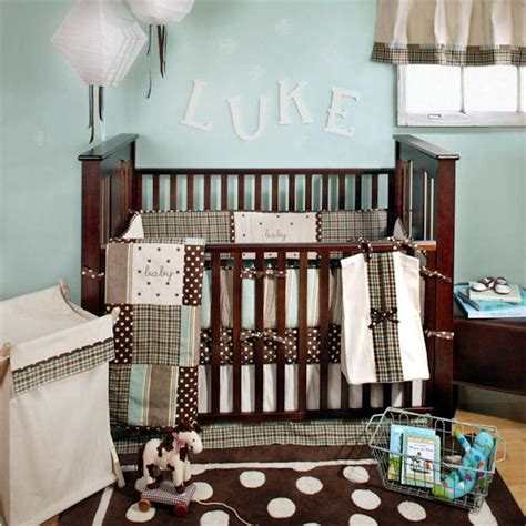 mad about plaid in blue 4 crib set sale the frog