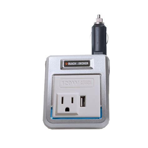 black decker 120 watt power inverter pi120p the home depot