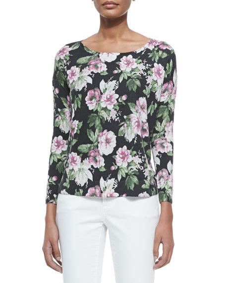 Atasan Flower Top Jersey joie emele floral print jersey top