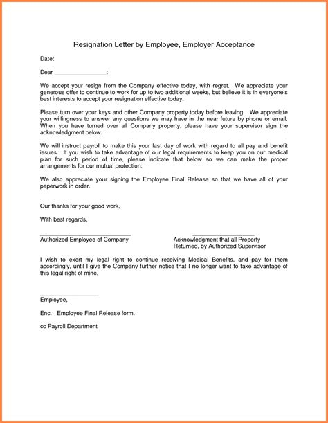 10 giving notice to employer letter notice letter