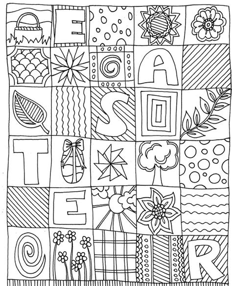adult coloring page easter easter 2