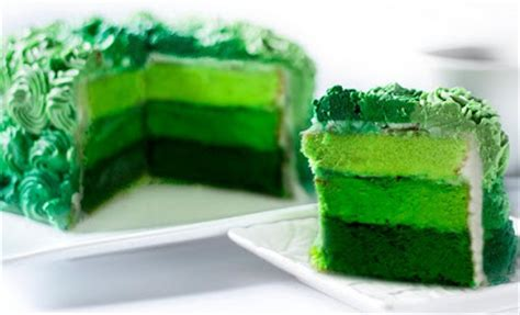 gambar tutorial ombre cara membuat ombre cake gradasi warna resep masakan