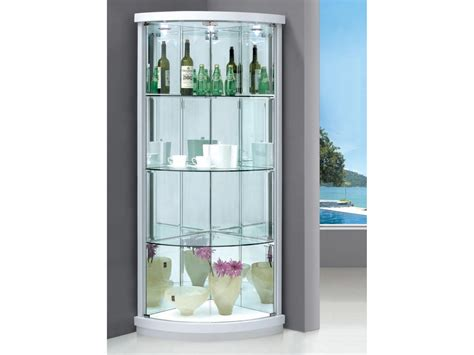 corner display cabinet glass corner display cabinet with 2 glass doors lights