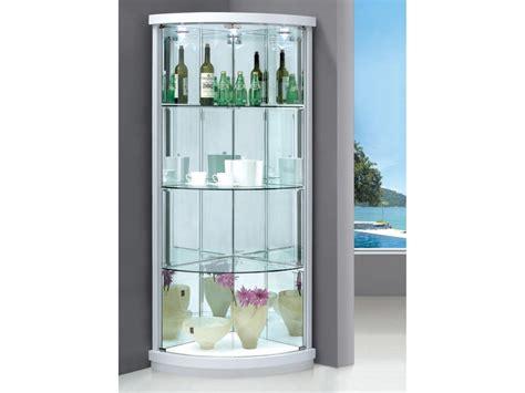 corner glass display cabinet corner display cabinet with 2 glass doors lights