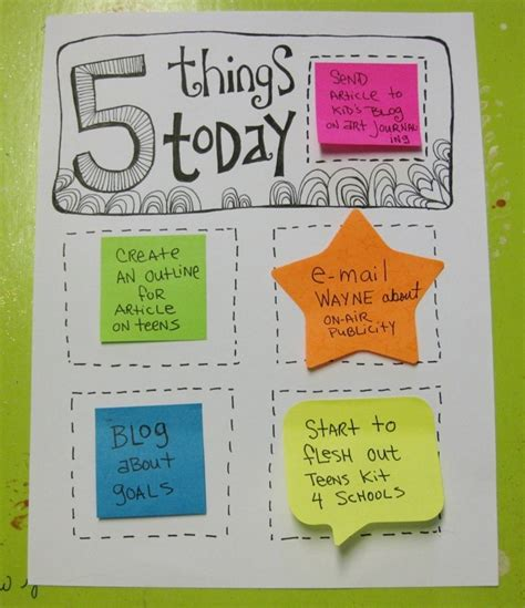 5 Things To Do Today by 5 Things Daily Goal List Violette S Creative Juice