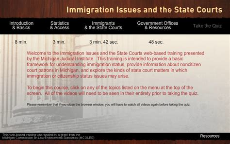 model jury instructions michigan immigration issues and the state courts