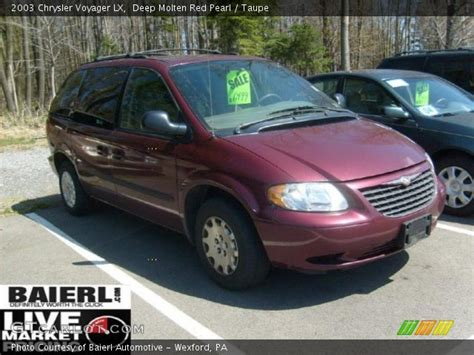 2003 Chrysler Voyager Lx by Molten Pearl 2003 Chrysler Voyager Lx Taupe