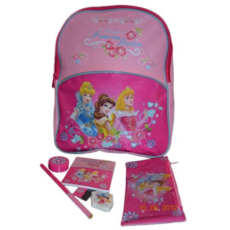 Disney Princess Stationerry Set backpack disney princess school stationery set bag