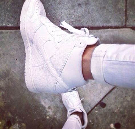 shoes nike nike air nike air 1 white wedges