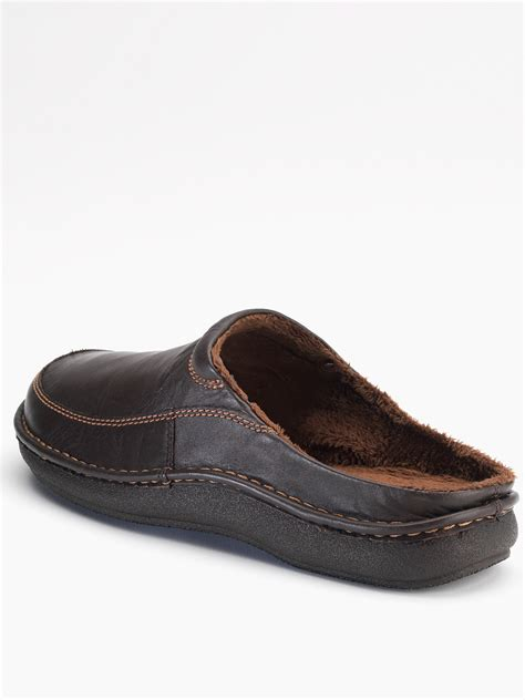 clarks slippers mens clarks mens kite clog slippers in brown for brown