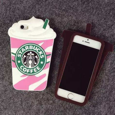 Iphone 6g Silikon 3d Cover Silikon starbucks 3d silicone coffee cup phone cover for
