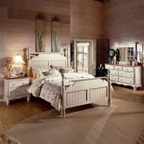 hillsdale bedroom furniture hillsdale wilshire 5 piece bedroom set in antique white