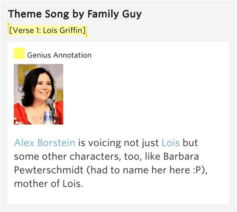 meaning of themes in music verse 1 lois griffin theme song meaning