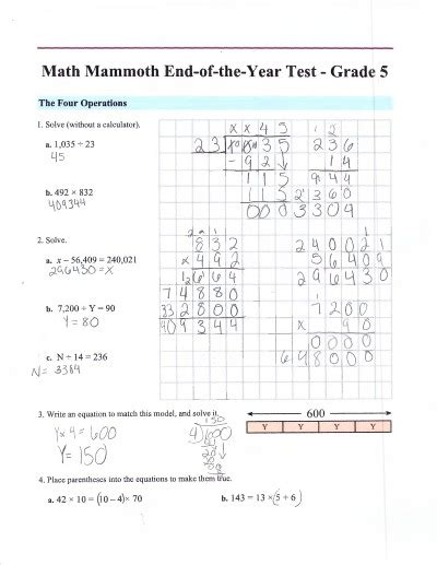Math mammoth placement tests free math assessment