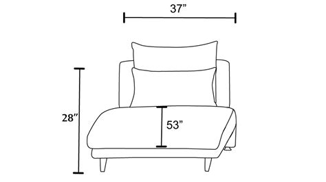 chaise dimensions palms modular chaise fabric cushions leatherette black
