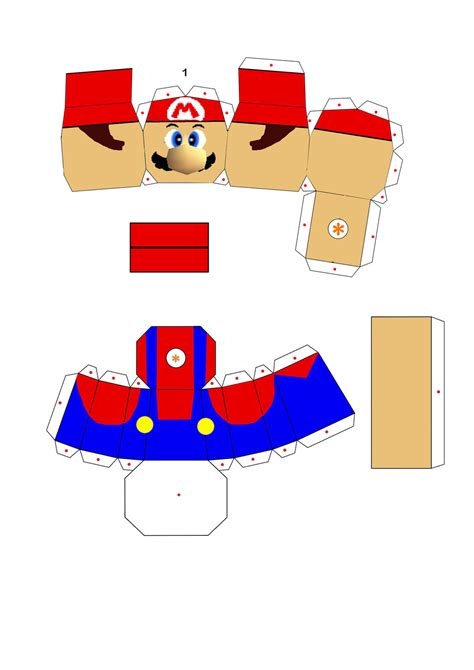 Papercraft Pattern - mario papercraft part1 by jackobonnie1983 on deviantart