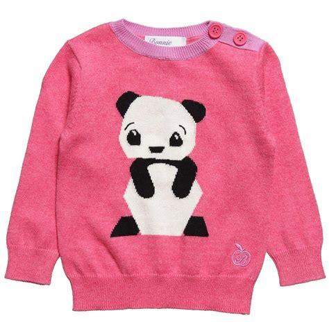 knitting pattern panda jumper girls pink knitted panda jumper knitwear kids